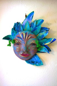 art blue mask